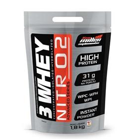 3 Whey Nitro 2 - New Millen - 1,8Kg - Morango