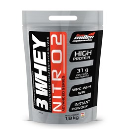 3 Whey Nitro 2 - New Millen - 1,8Kg - Chocolate