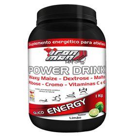 Power Drink Iron Man - New Millen - Limão - 1 Kg
