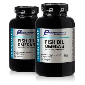 Óleo de Peixe - Fish Oil Ômega 3 Performance Nutrition - 100 Cápsulas (2 Unidades)