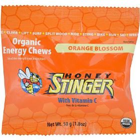 Organic Energy Chews - Honey Stinger - Laranja - 10 balas de goma - pack de 50g (Val. 04/2018)