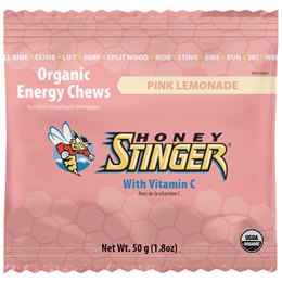 Organic Energy Chews - Honey Stinger - Pink Limonade - 10 balas de goma - pack de 50g