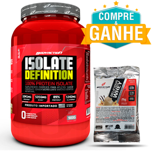 Isolate Definition - Body Action - Pêssego - 900g Grátis 1 Amostra Delicious Whey