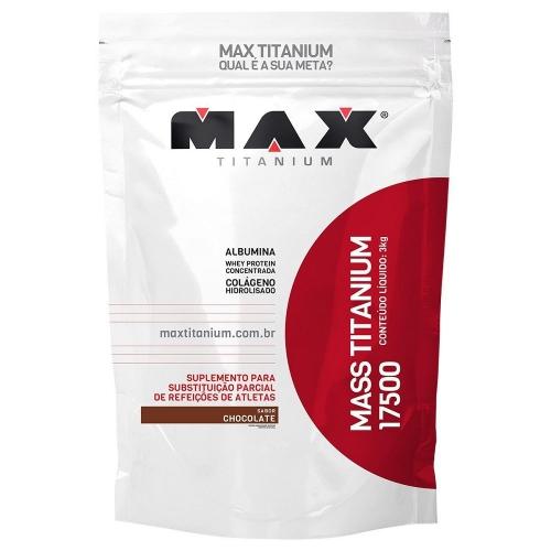 Mass Titanium 17500 - Max Titanium - Baunilha - 1,4 Kg