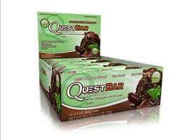 Quest Bar - Protein Bar Sabor Chocolate com Menta (Caixa c/ 12 Unidades de 60g cada) - Quest Nutrtion