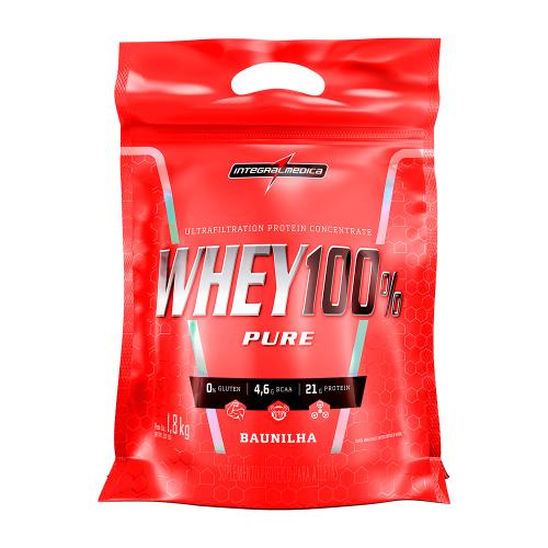 Whey 100% Pure - Refil Sabor Baunilha (1,8Kg) - Integralmédica