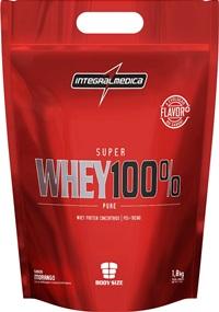 Super Whey 100% Pure (Refil) - Morango - Integralmédica - 1,8 Kg