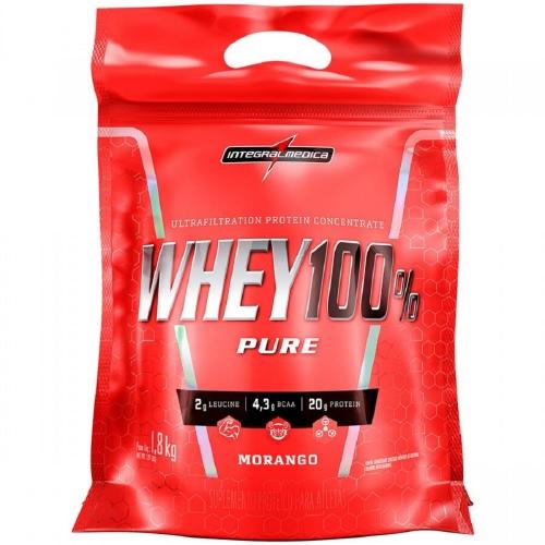 Whey 100% Pure (Refil) - Morango - Integralmédica - 1,8 Kg