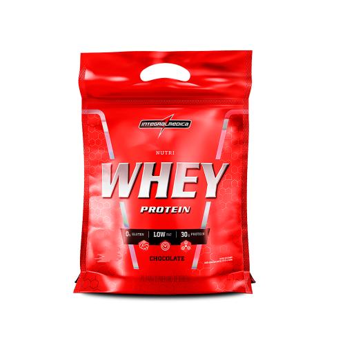 Nutri Whey Protein (Refil) Sabor Morango (1,8 Kg) - Integralmédica