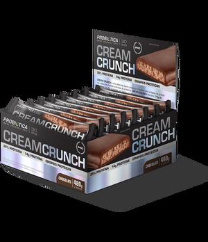 Cream Crunch Bar  - Pró Premium Line - Probiótica - 40 g (1 Caixa - 12 Unidades) - Chocolate