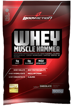Whey Muscle Hammer - Cookies - Body Action - 900g
