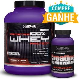 Prostar Whey Protein - Ultimate Nutrition - Banana - 2.390g e Ganhe Creatina 300g