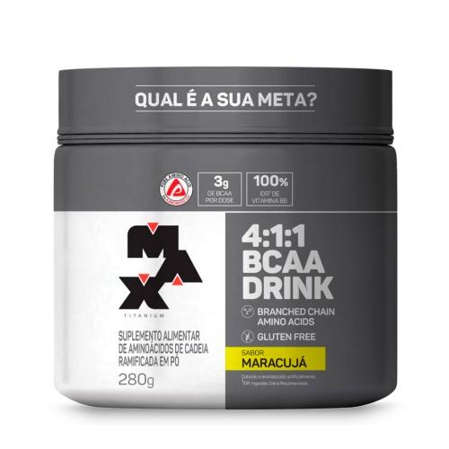 BCAA 4:1:1 Drink Sabor Maracujá (280g) - Max Titanium