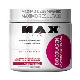 Bio Colagen - Colágeno - Max Titanium - Frutas Vermelhas - 300g