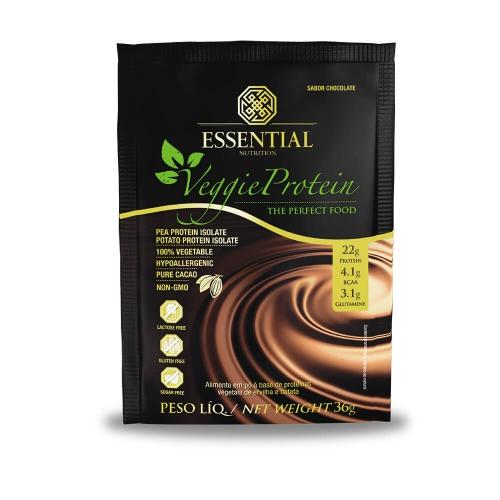 Veggie Protein  sabor chocolate 1 Sachê de 36g - Essential
