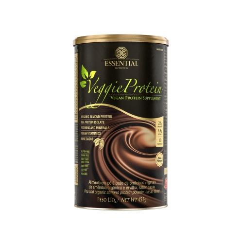 Veggie Protein - Proteína 100% Vegetal - Chocolate - Essential - 455g