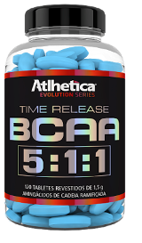 BCAA Time Release 5:1:1 - Atlhetica Evolution - 120 Tabletes