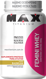 Femini Whey Max Titanium - Baunilha - 600g