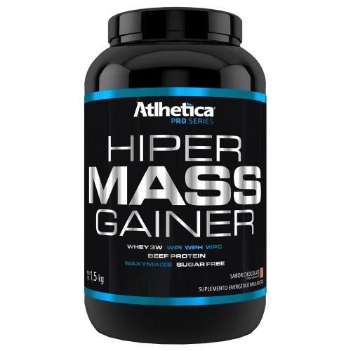 Hiper Mass Gainer Pro Series Sabor Morango (1,5kg) - Atlhetica Nutrition - Unissex