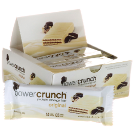 Power Crunch Original Bio Nutricional - Cookies & Creme - 12 unidades 40g
