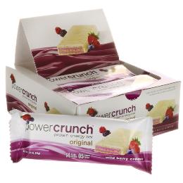 Power Crunch Original Bio Nutricional - Frutas Vermelhas - 12 unidades 40g
