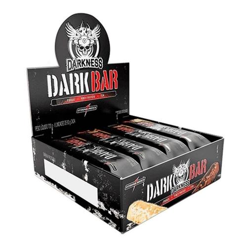 Whey Bar Darkness Sabor Chocolate Meio Amargo com castanhas (Cx c/ 8 Unidades de 90g) - Integralmédica