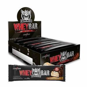 Whey Bar Darkness - Integralmédica - Chocolate Amargo com Castanhas - 90g - 1 Caixa (8 unidades)