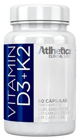 Vitamina D3+K2 (60 Cápsulas) - Atlhetica Evolution -