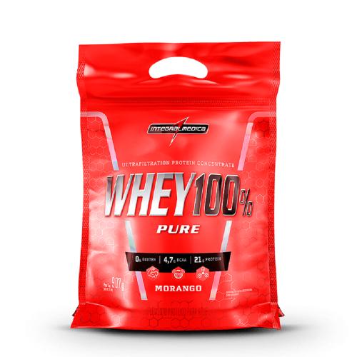 Super Whey 100% Pure (Refil) - Morango - Integralmédica - 907g