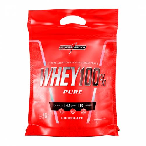 Whey 100% Pure Sabor Chocolate (907g) Refil - Integralmédica