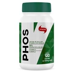 Phos Lecitina De Soja (500mg) 120 Cápsulas - Vitafor