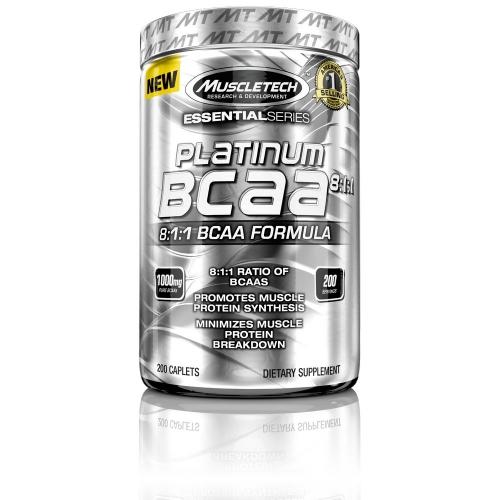 BCAA Platinum 8:1:1 Muscletech - 200 Cápsulas