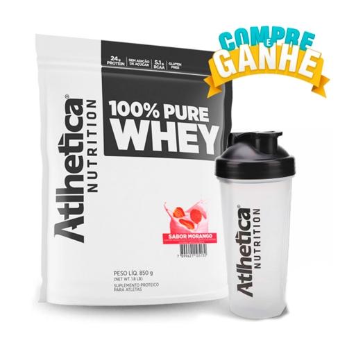 100% Pure Whey Refil - Atlhetica Evolution - Morango - 850g