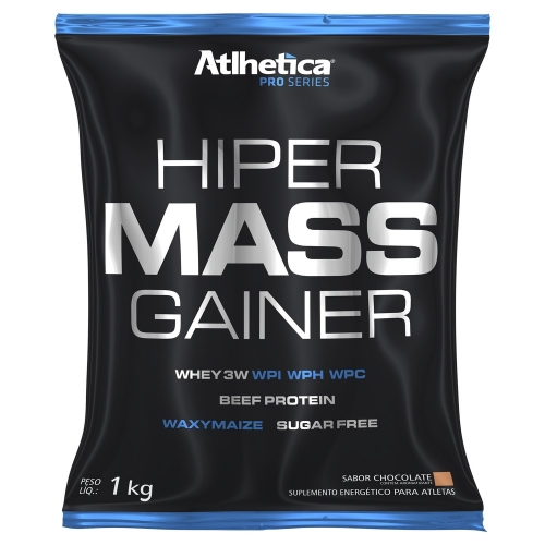 Hiper Mass Gainer Pro Series 1kg- Atlhetica Nutrition - Unissex - Chocolate