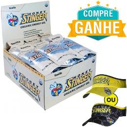 Gel Honey Stinger - Baunilha - 32g (24 Unidades) e Ganhe 1 Viseira