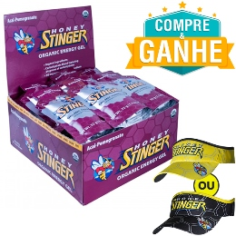 Gel Honey Stinger - Açaí - 32g (24 Unidades) e Ganhe 1 Viseira