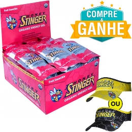 Gel Honey Stinger - Vitamina de Frutas - 32g (24 Unidades) e Ganhe 1 Viseira