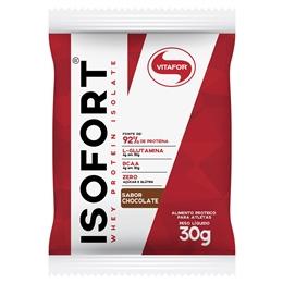 Isofort - Whey Protein Isolate - Bio Protein - Vitafor - Chocolate - 1 Sachê