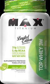 Top Whey 3W Max Titanium Limão - 900g