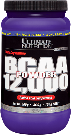BCAA Powder 12.000 - Ultimate Nutrition - Sem Sabor - 300g + 100g Bônus