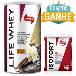 Life Whey Vitafor - Baunilha - 450g
