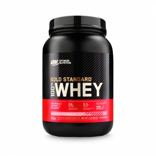 100% Whey Protein Gold Standard Sabor Morango (909g) - Optimum Nutrition