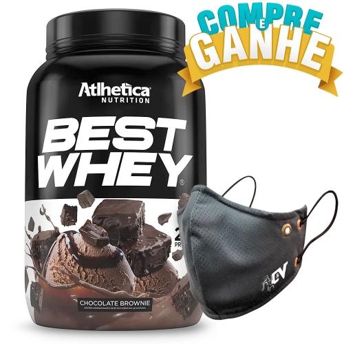 Compre Best Whey Sabor Chocolate Brownie (900g) e Ganhe Camiseta Best Whey - Atlhetica Nutrition