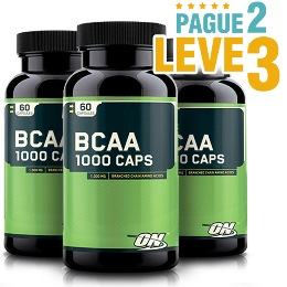 BCAA 1000 Optimum Nutrition - 60 Cápsulas Pague 2 e Leve 3