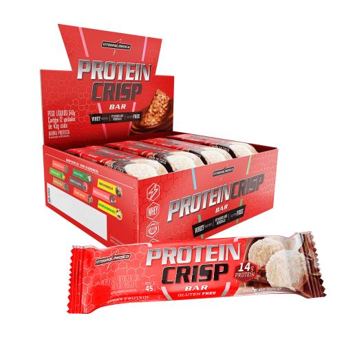 Protein Crisp Bar Sabor Doce de Coco (Cx c/ 12 Unidades de 45g) - Integralmédica