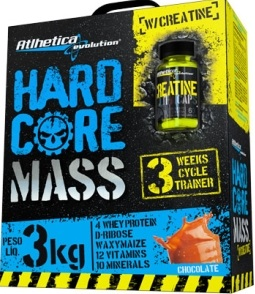 Massa Hardcore Mass com Creatina Chocolate 3 Kg  - Atlhetica