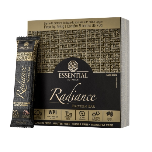 Radiance Protein Bar Gourmet Chocolate (Cx c/ 8 unidades de 70g) - Essential