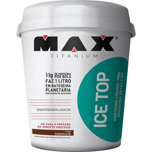 Ice Top sorvete - Max Titanium - 100g
