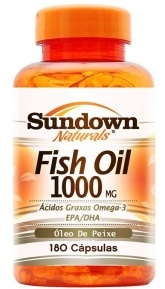 Óleo de Peixe - Fish Oil 1000mg - Sundown - 180 Cápsulas