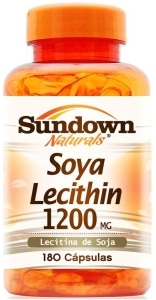 Soya Lecithin 1200 mg Sundown - 180 Cápsulas